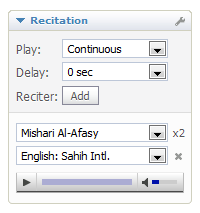 Recitation Options